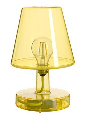 Lampe sans fil Transloetje / LED - Ø 16 x H 25 cm - Fatboy jaune transparent en matière plastique