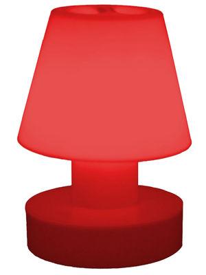 Foto Lampada senza fili - portatile senza fili ricaricabile - H 28 cm di Bloom! - Rosso - Materiale plastico
