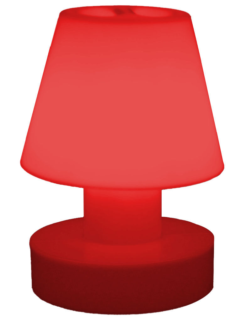 lampe sans fil rechargeable h 28 cm rouge bloom. Black Bedroom Furniture Sets. Home Design Ideas
