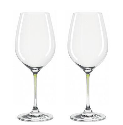 Verres à vin La Perla / Set de 2 - Leonardo vert en verre