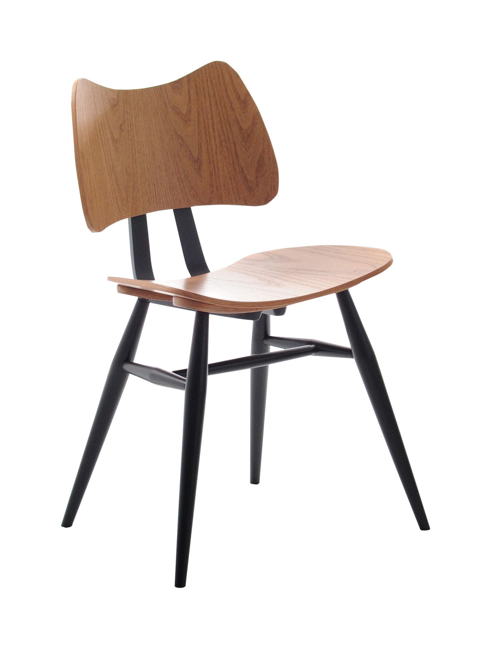 chaise butterfly bois r dition 1958 noir bois ercol. Black Bedroom Furniture Sets. Home Design Ideas