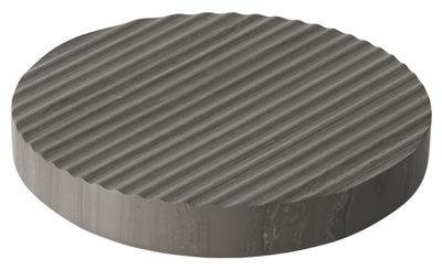 Dessous de plat Groove Small Ø 16 cm Marbre Muuto gris en pierre