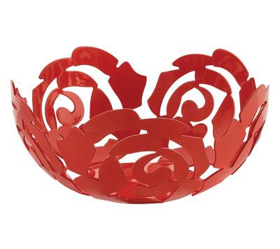 Foto Cesto La Rosa - Ø 29 cm di Alessi - Flower red - Metallo