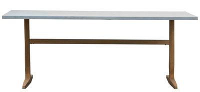 Zinc Tisch / 80 x 200 cm - Zink & Fußgestell Aluminium - House Doctor - Kupfer,Zink