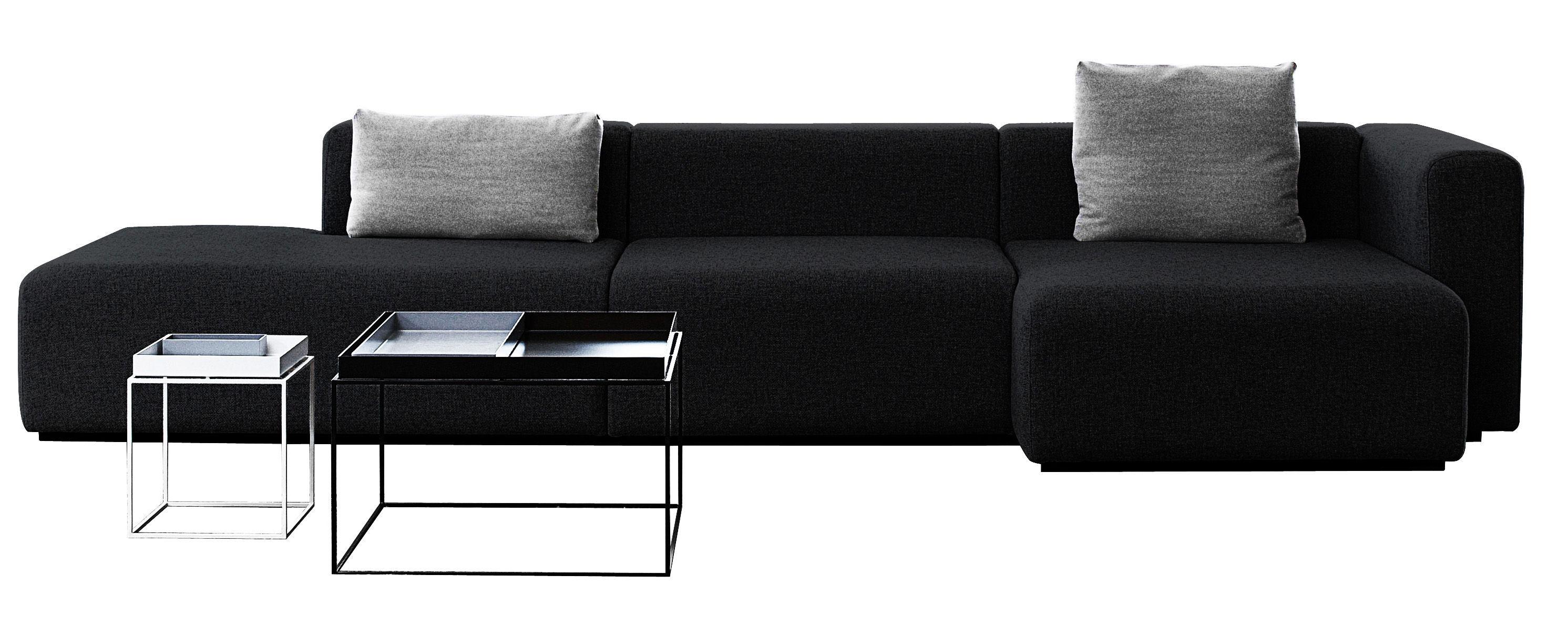 canap d 39 angle mags l 342 cm accoudoir droit gris fonc accoudoir droit hay. Black Bedroom Furniture Sets. Home Design Ideas
