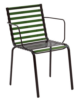 Poltrona impilabile Striped di Magis - Verde - Materiale plastico