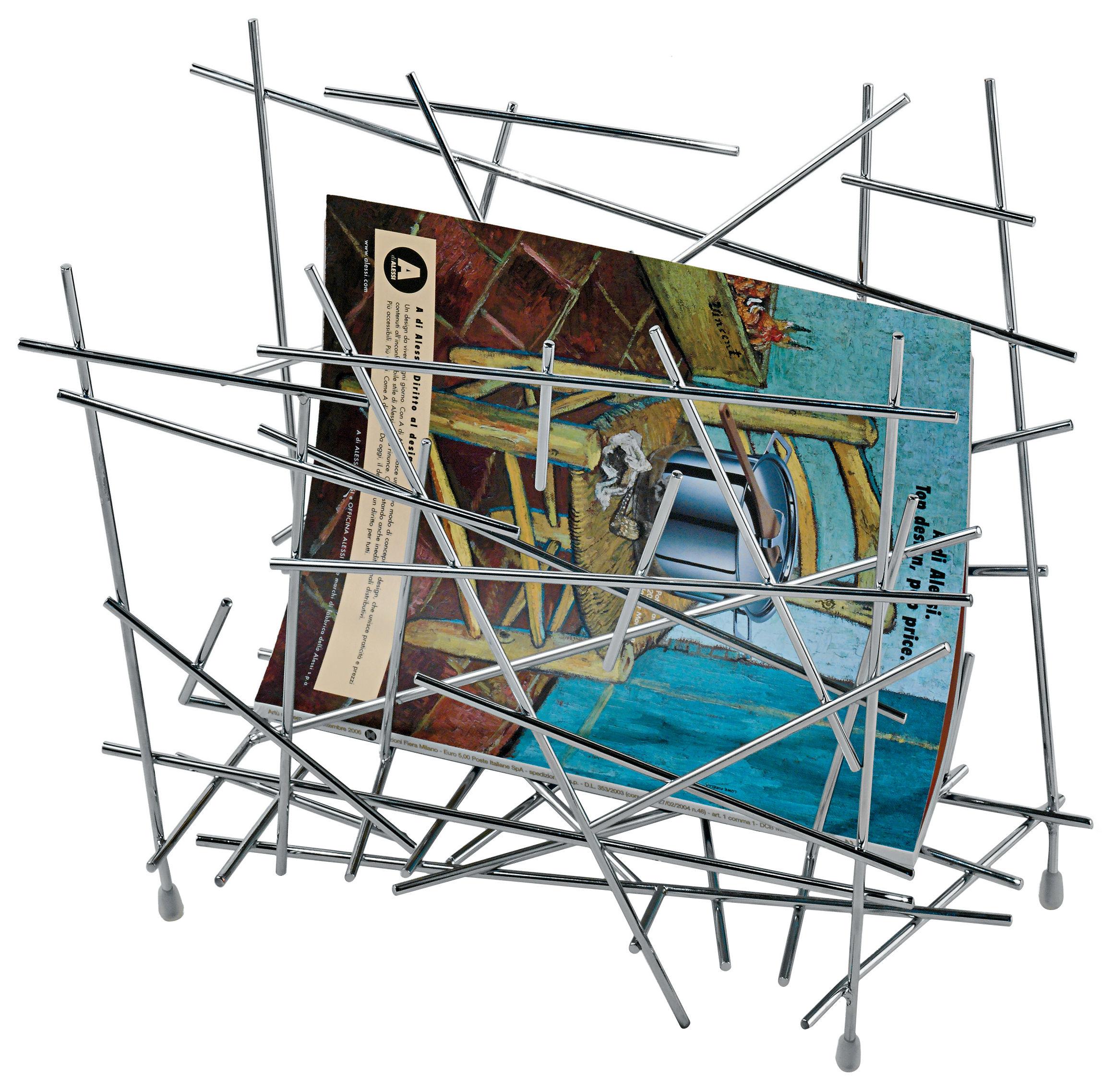 blow up magazine holder acier by alessi. Black Bedroom Furniture Sets. Home Design Ideas