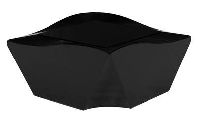 Table basse Kami Ni version laquée - Slide laqué noir en verre