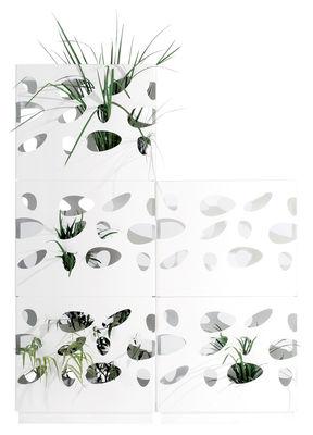 Foto Kit per fioriera - Per impilare 3 fioriere Garden Wall di Viteo - Bianco - Metallo
