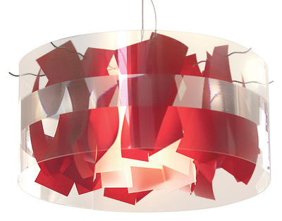 Lighting - Suspensions - Holo Macao Pendant - Ø 64 cm by Dix Heures Dix - Red - Paper, Polyester