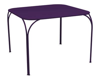 Table Kintbury 100 x 100 cm Fermob aubergine en métal