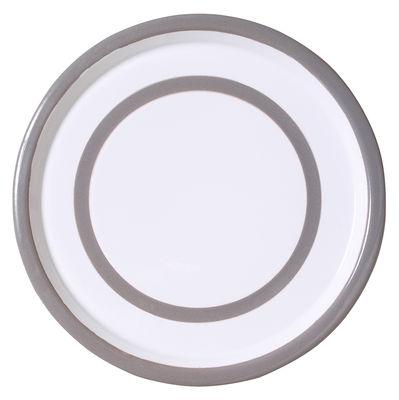 Assiette Basic Medium / Ø 26,5 cm - Variopinte gris perle en métal