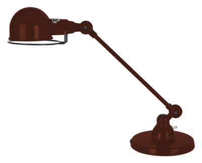 Foto Lampada da tavolo Signal - 1 braccio articolato - L 40 cm di Jieldé - Cioccolato brillante - Metallo