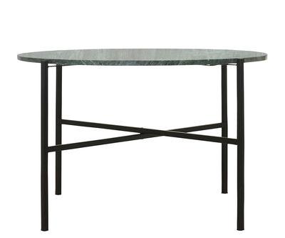 Tavolino basso The Green / Ø 70 x H 45 cm - Marmo verde - House Doctor - Nero,Verde - Pietra