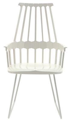 Comback Sessel oval - Version Schlitten - Kartell - Weiß
