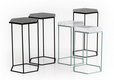 table d 39 appoint hexxed marbre h 50 cm marbre blanc. Black Bedroom Furniture Sets. Home Design Ideas
