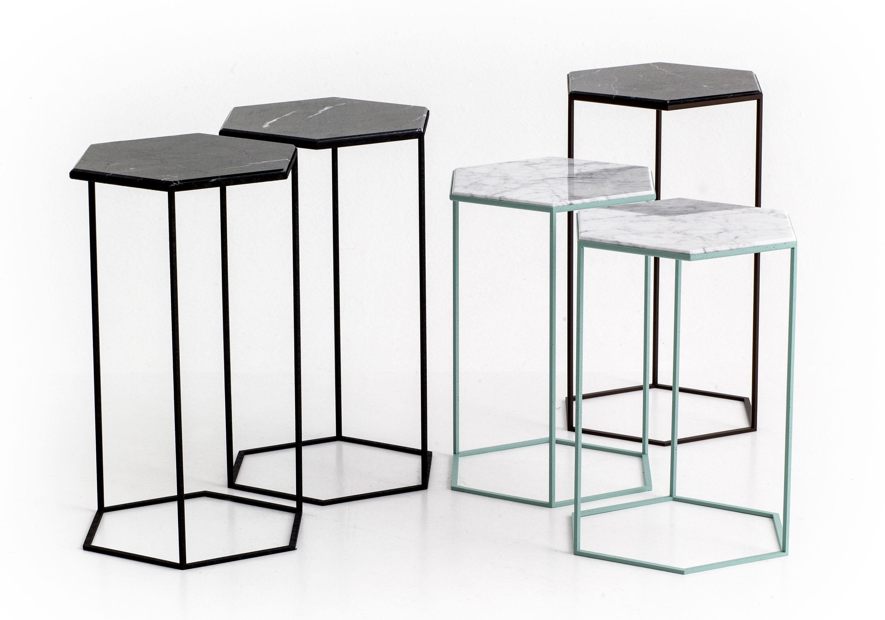 table d 39 appoint hexxed marbre h 50 cm marbre blanc base verte diesel with moroso. Black Bedroom Furniture Sets. Home Design Ideas
