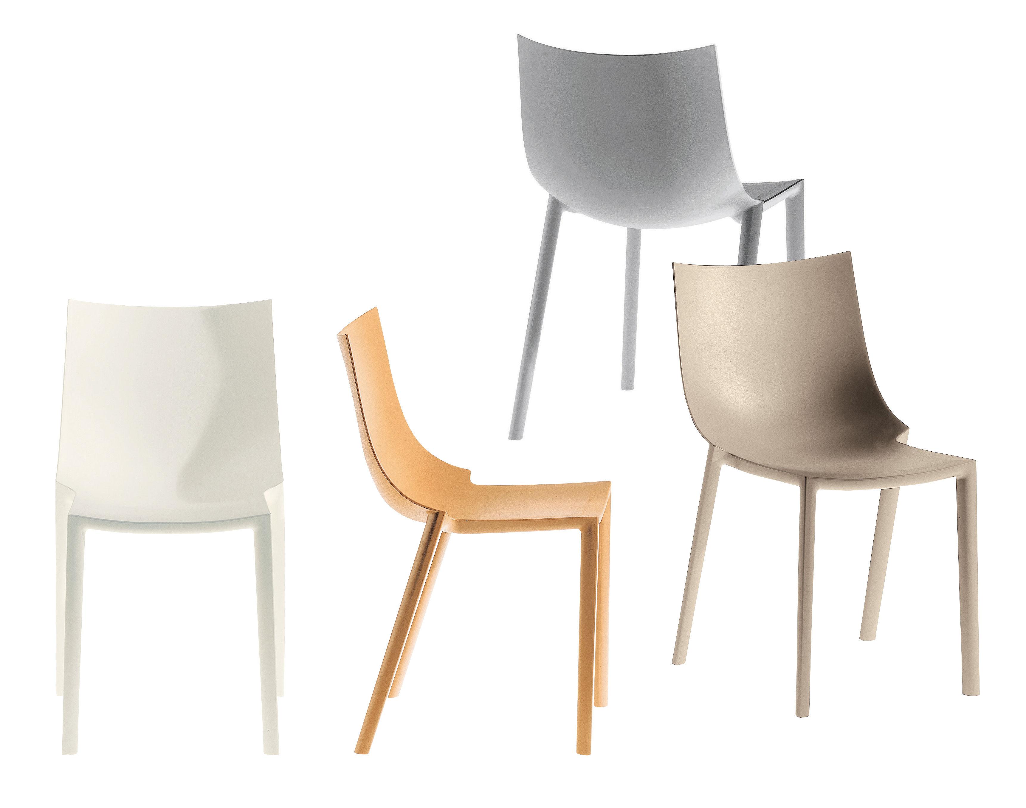 chaise empilable bo plastique marron clair driade made in design. Black Bedroom Furniture Sets. Home Design Ideas