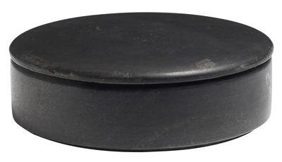 Déco - Boîtes déco - Boîte Lens Medium / Marbre - Ø 14 x H 5.5 cm - Hay - Marbre noir - Marbre