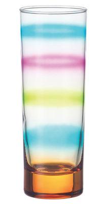 Image of Bicchiere da long drink Rainbow di Leonardo - Arancione - Vetro