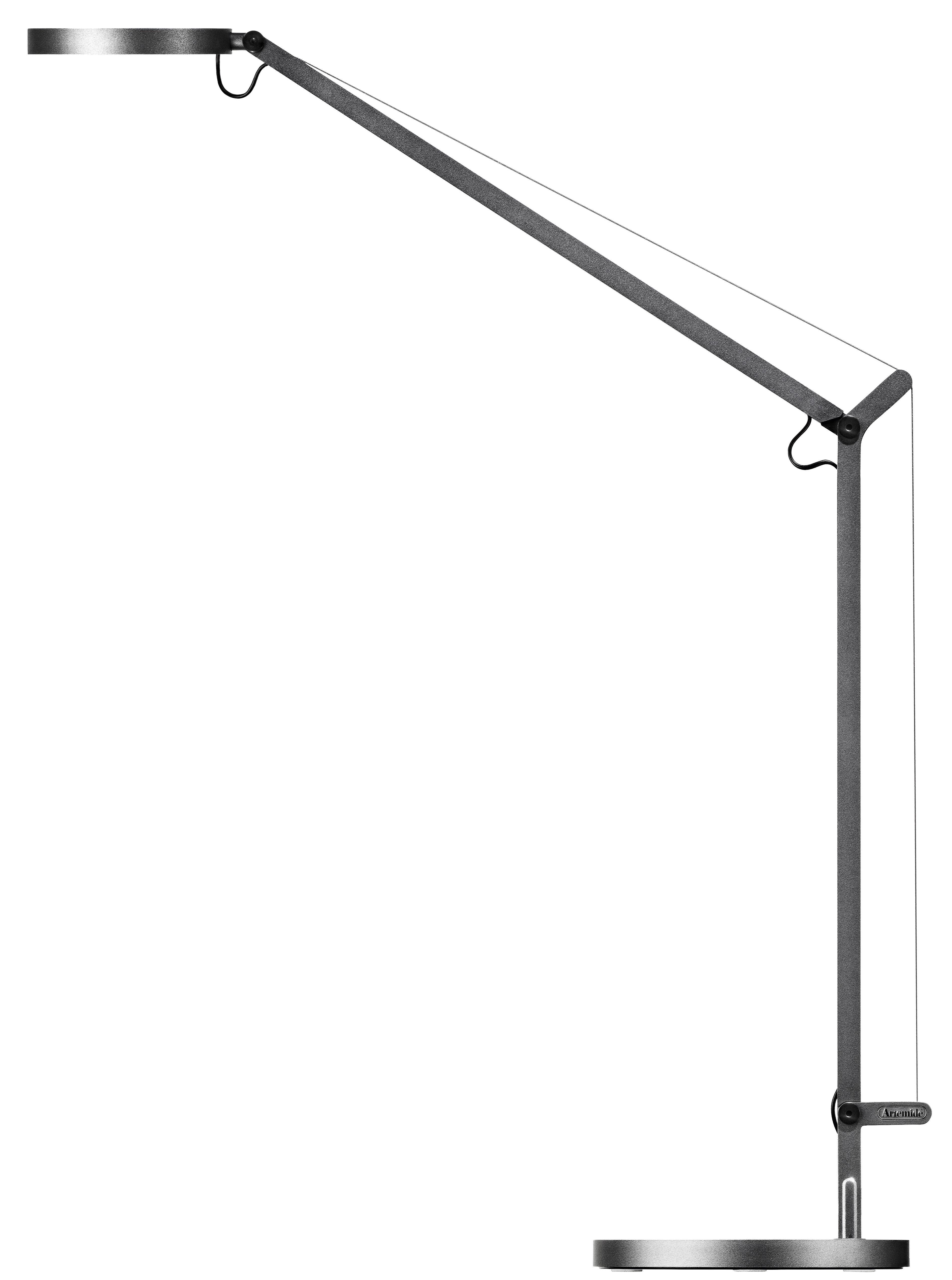 Demetra table lamp titanium by artemide for Table titanium quadra 6