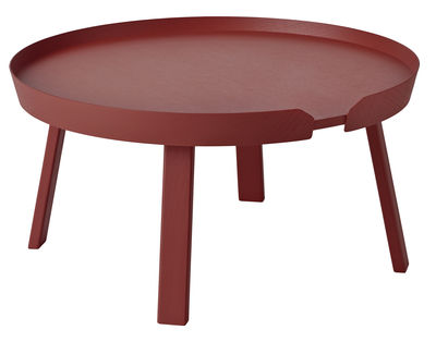 Table basse Around Large / Ø 72 x H 37,5 cm - Muuto bordeaux en bois