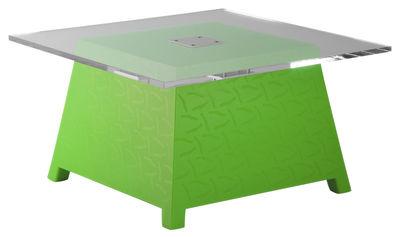 Tavolino Raffy di Qui est Paul ? - Verde - Materiale plastico