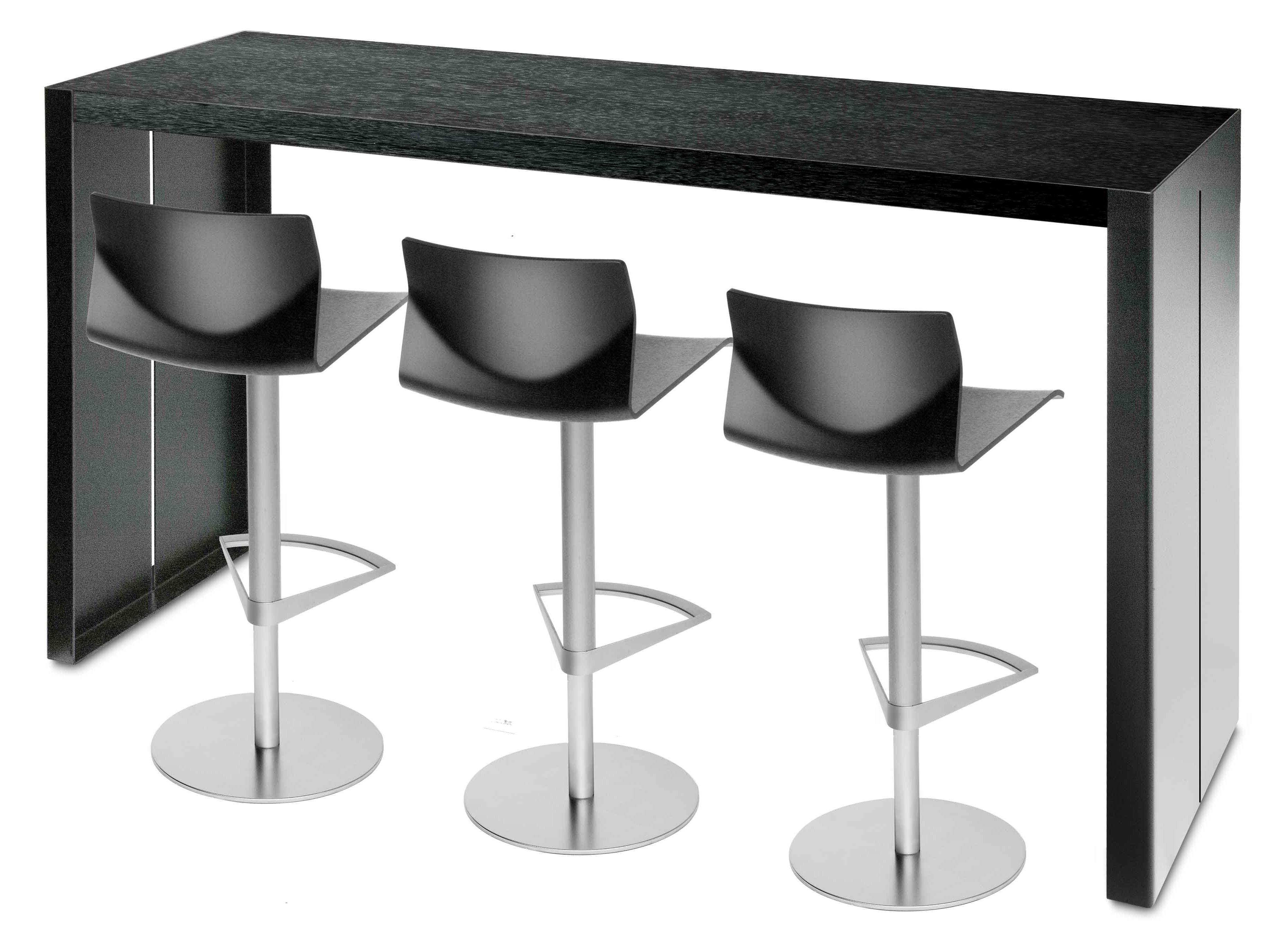 scopri tavolo alto panco h 110 cm nero l 240 cm di la