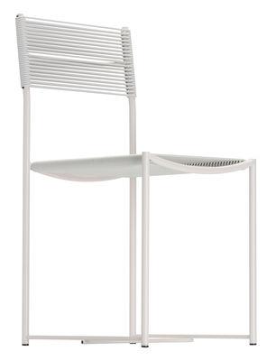 Chaise Spaghetti / Design de 1979 - Exposée au MoMA - Alias blanc,blanc granité en métal