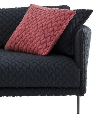 coussin gentry tissu 45 x 40 cm rouge moroso. Black Bedroom Furniture Sets. Home Design Ideas