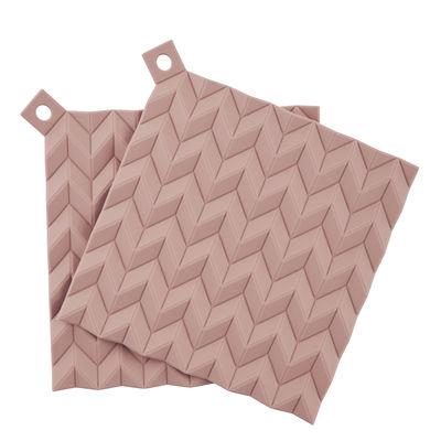 Dessous de plat Hold-on / Silicone - Set de 2 - Stelton rose en matière plastique