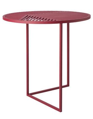 Tavolino Iso-A / Ø 47 x H 44 cm - Petite Friture - Bordeaux - Metallo