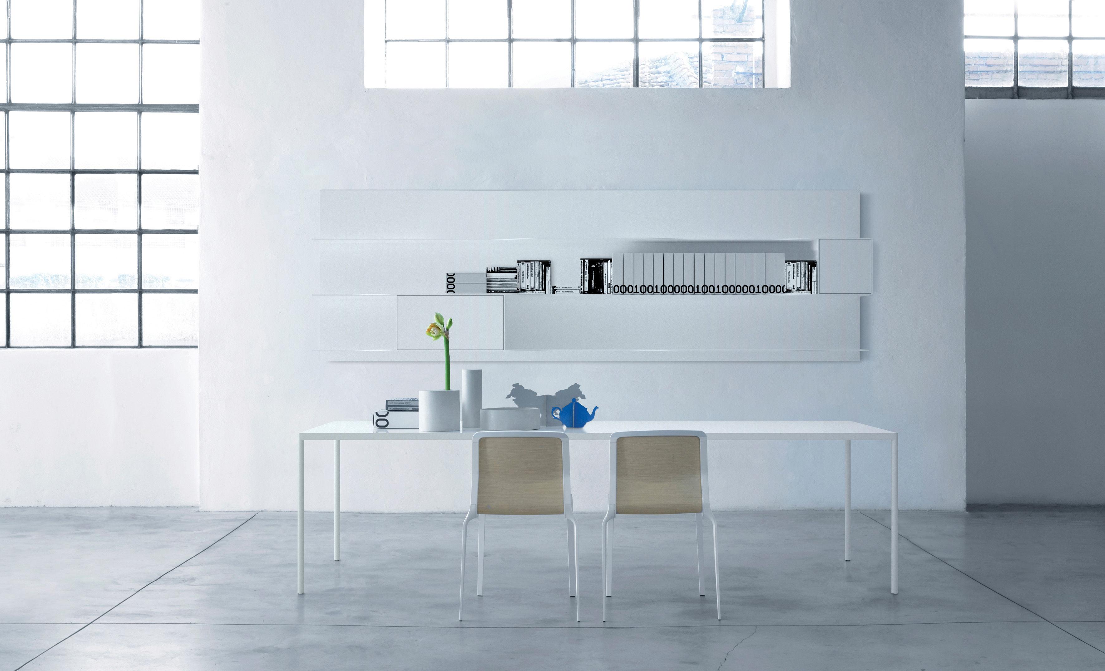 Table robin ciment 100 x 220 cm ciment gris clair mdf italia - Mdf italia ...