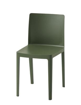 Chaise empilable Elementaire Hay olive en matière plastique