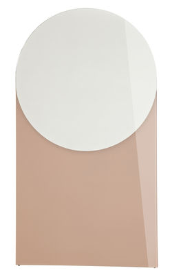Foto Specchio Shape - Rotondo / Small - L 50 x H 90 cm di Hay - Rosa antico - Vetro
