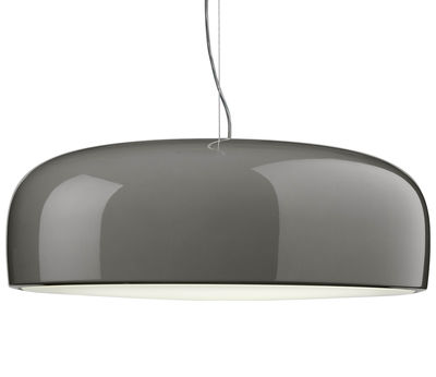 Luminaire - Suspensions - Suspension Smithfield / LED - Flos - Gris taupe - Aluminium peint, Polycarbonate