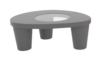 Tavolino basso Low Lita - Slide - Grigio - Vetro