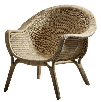 Chaise Madame / Réédition 1951 - Sika Design naturel en rotin & fibres