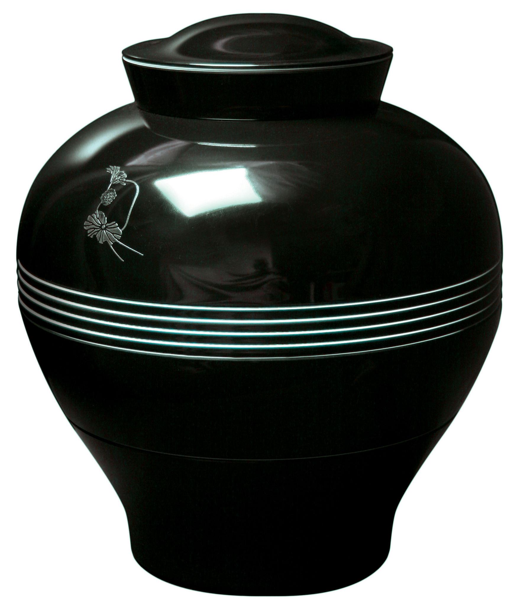 service de table yuan 8 pi ces empilable noir motifs. Black Bedroom Furniture Sets. Home Design Ideas
