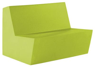 Divano destro Primary Duo - 2 posti di Quinze & Milan - Verde limone - Materiale plastico
