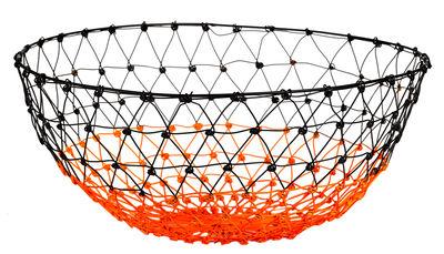 Déco - Corbeilles, centres de table, vide-poches - Corbeille Gradient Knot / Fil de fer - Ø 31 cm - Pols Potten - Noir / Orange fluo - Fil de fer