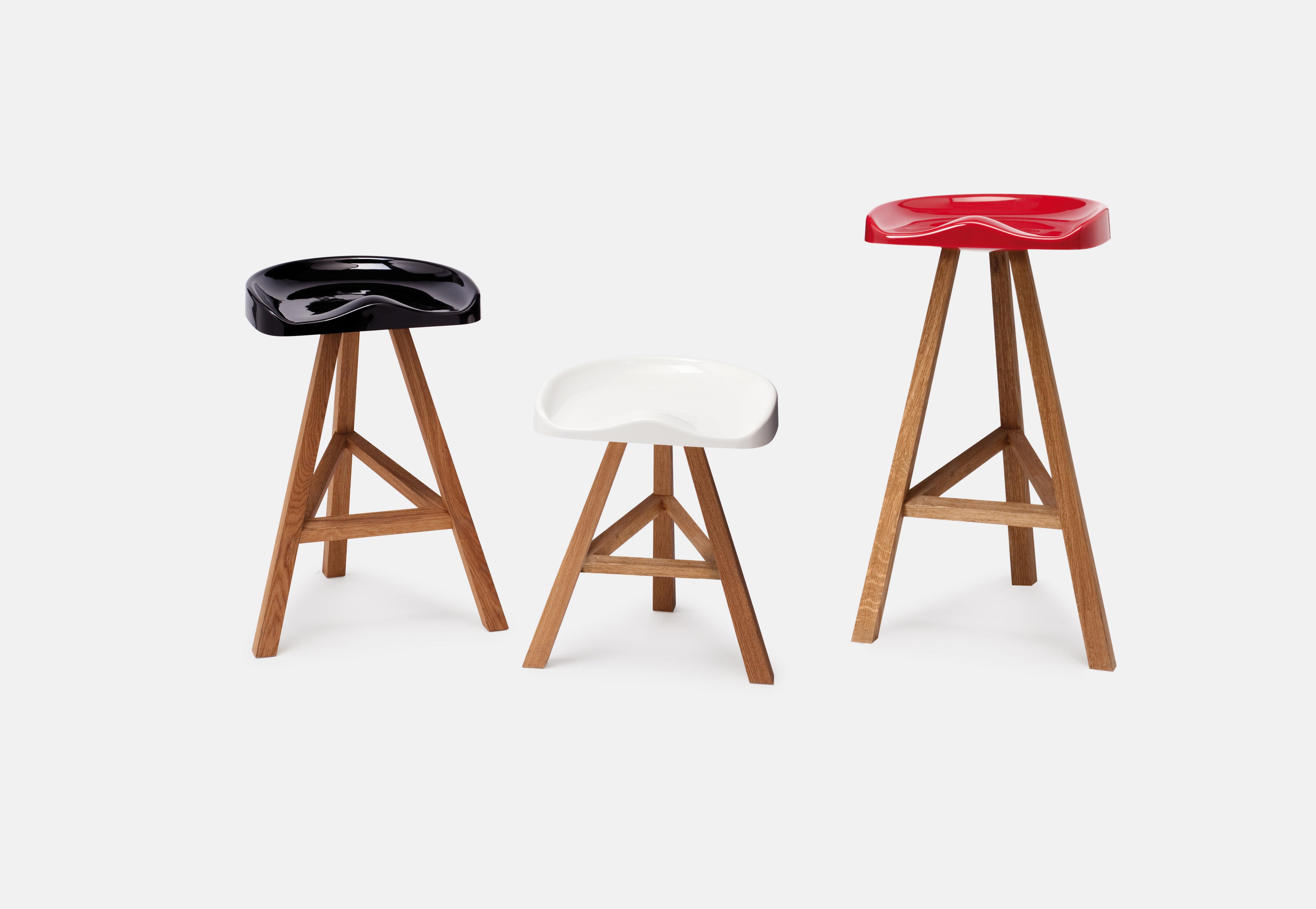 tabouret de bar heidi h 65 cm plastique bois blanc established sons. Black Bedroom Furniture Sets. Home Design Ideas