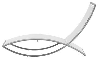 Chaise longue Fish - EGO Paris blanc,argent en métal