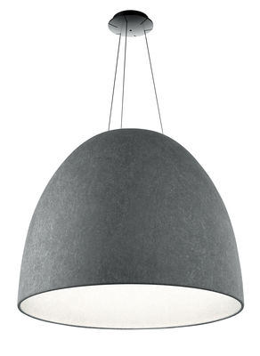 Nur LED  Suspension acoustique / Filz - Ø 91 cm - Artemide - Dunkelgrau