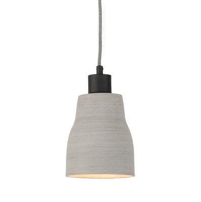 Luminaire - Suspensions - Suspension Cadiz / Effet béton - It's about Romi - Gris clair - Acier peint, Polystone