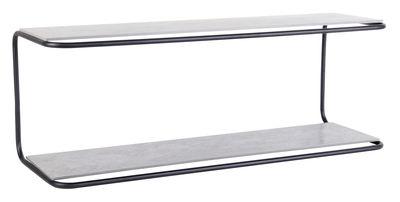 Etagère Yoso / Ciment - L 110 cm - XL Boom gris,noir en métal