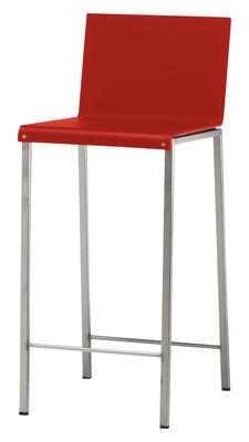 Foto Sedia da bar Bianco - Tinta opaca di Zeus - Acciaio,Rosso opaco - Metallo
