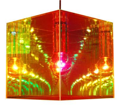 Cube miroir pendant mirror 30 x 30 cm by designheure for Cube miroir habitat