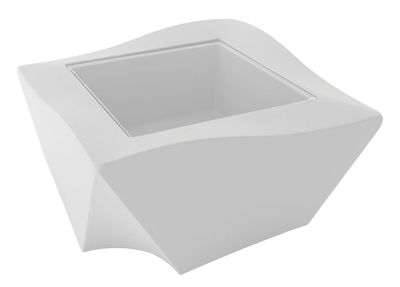 Table basse Kami Ni - Slide blanc en verre