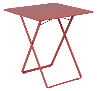 Outdoor - Garden Tables - Plein Air Foldable table - 71 x 71cm by Fermob - Poppy - Steel